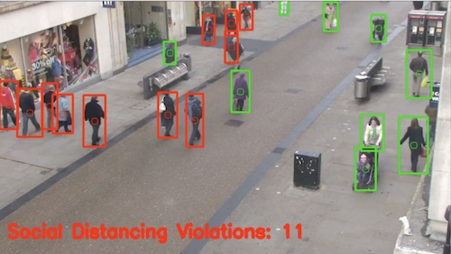 Drone/AI social distance detection